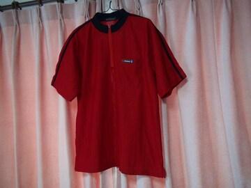 Jesseの赤と黒のポロシャツ(L)!。