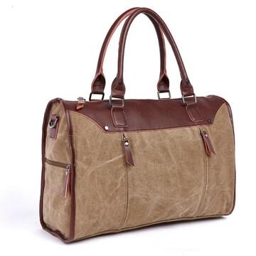 ボストンバッグ 旅行鞄 キャンバス メンズ 出張 カーキ