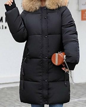 【新品・未使用】中綿コート ストレートロング丈 2XL