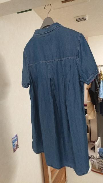 RODEO CROWNS シャツ ワンピース デニム インディゴ 刺繍 2 < ブランドの