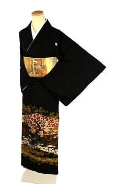 【最高峰】新品同様 京友禅作家【松尾光琳】本金彩 黒留袖 T2227