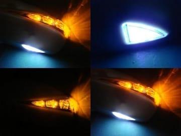 激安塗装可フットランプ付ミラーウィンカー フィットアリア