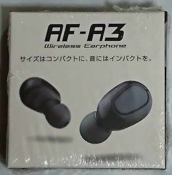 AF-A3 Wireless Earphone ワイヤレス イヤホン WHITE 白
