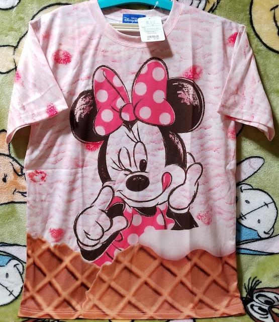 TDR☆ミニー【半袖Tシャツ(M)】アイスクリームデザイン★ストロベリーアイスクリーム  < おもちゃの