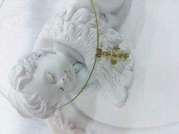 K10☆ペリドット・十字架☆ネックレス