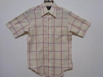 即決USA古着●鮮やかデザイン半袖シャツ!アメカジ・ビンテージ・レア