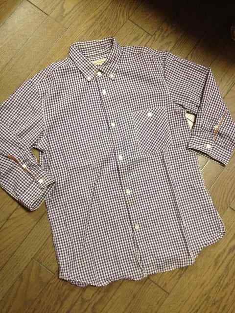 美品JOURNAL STANDARD レザー使用チェックシャツ 日本製  < ブランドの