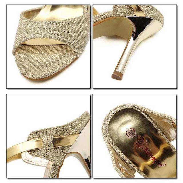 ZC2002即決 新品 ミュール ゴールド 22cm エスペランサ ダイアナ R&E 好きに < 女性ファッションの
