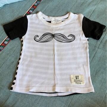 80センチ/ひげ柄Tシャツ!