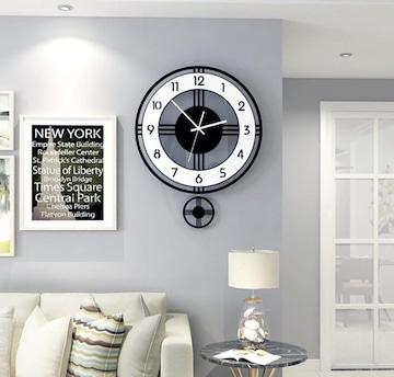 壁掛け 振り子時計 モノトーン