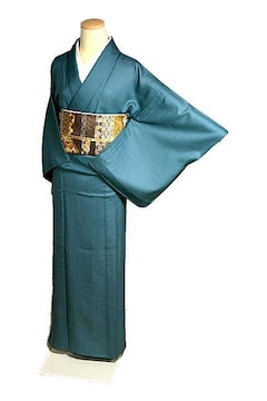 【夏用】【最高級】新品同様 絽 泰流織 1つ紋 色無地 T2156