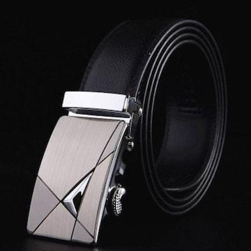 オートロック式 本革高級ベルト 110cm〜125cm 長さ選択 H