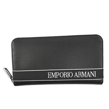 ★エンポリオアルマーニ ラウンドファスナー長財布(BK)『YEME49 YTX0J』★新品本物