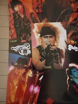 X JAPAN ポスター hide YOSHIKI ToshI PATA Taiji 1991 jealousy