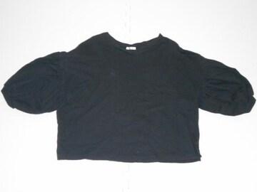 衣類 レディース Lサイズ 七分袖カットソー 無地 黒 C.O.L.Z.A