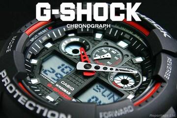 送料込 G-SHOCK CASIO カシオ 1/1000秒クロノデジアナBKRD新品