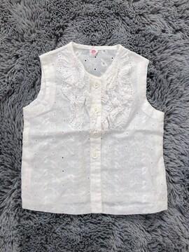 美品★ノースリーブシャツ90