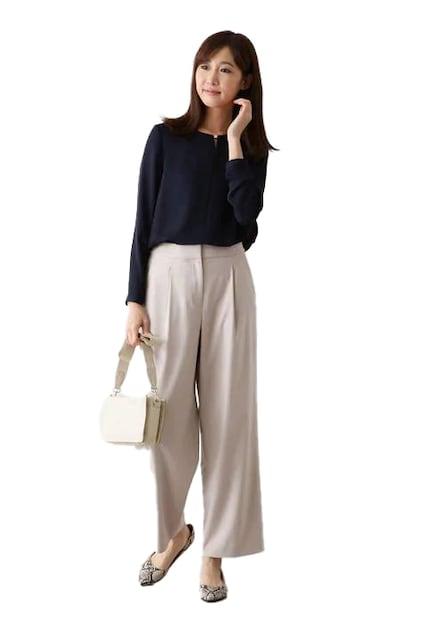 ★NATURAL BEAUTY BASIC TRギャバストレートパンツ★  < 女性ファッションの