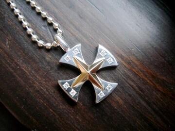 仁尾彫金『十字星ダイヤアイアンクロスヘッド』 ハンドメイドb