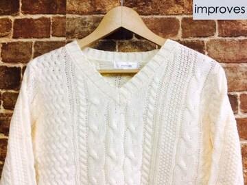 表記XL/新品!ケーブル編み フィシャーマンズ ニット 白 セーター グランジ カートコバーン