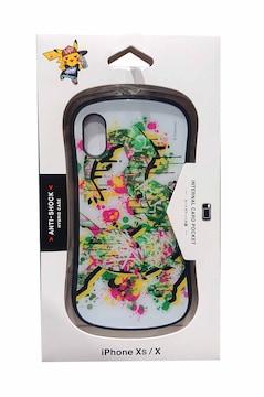 ポケモンセンターシブヤ限定 iPhone Xs/X対応 ハイブリッドガラスケース D