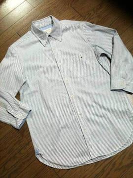 美品 CIAO PANIC ボーダー7分丈シャツ チャオパニック