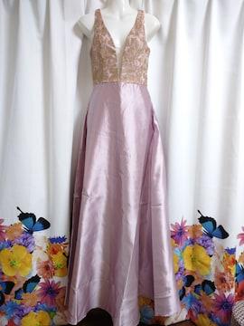 胸元シースルーロングドレス