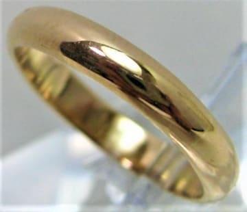三越 K18 18金 リング 甲丸 サイズ#12〜#12.5 結婚指輪 c