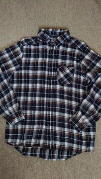 ◇新品 チャオパニック ネイビーチェックネルシャツ◇M