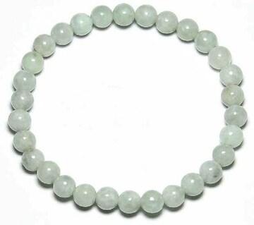 【新品】淡い緑の宝石翡翠6mmブレスレット