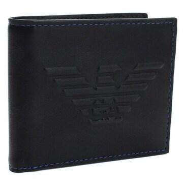 エンポリオ・アルマーニ  2つ折り財布 Y4R167 YG90J 81072 BLACK