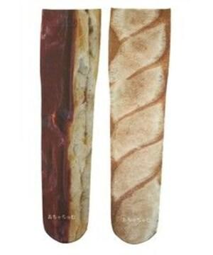 レア☆あちゃちゅむ パンプリント ニーソックス フランスパンpt 靴下 ムチャチャ 新品
