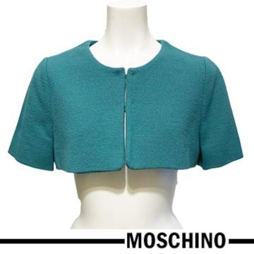 新品モスキーノ ボレロジャケット グリーン #38 MOSCHINO