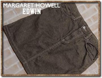 マーガレットハウエル×エドウィン 牛革使いデニムスカート