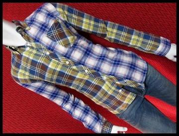 SALE クレイジーチェックフランネルBDシャツ/M