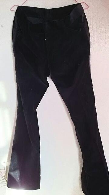 黒☆ベロア★。ライン☆カジュアル★パンツ☆  < 男性ファッションの