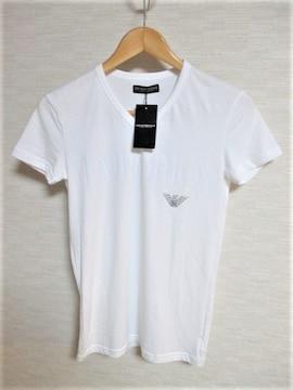 ☆エンポリオアルマーニ ビッグロゴ プリント Tシャツ/S/ホワイト☆新品