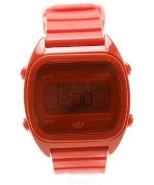 adidasアディダス☆レッドデジタル腕時計