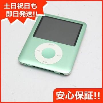 ●安心保証●美品●iPOD nano 第3世代 8GB グリーン●