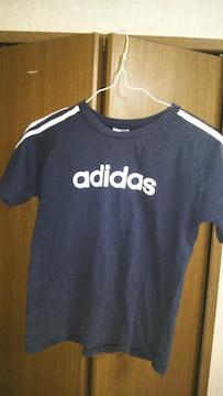 adidas(アディダス)古着♪Tシャツ黒size130&タンクトップ黒size140♪2枚