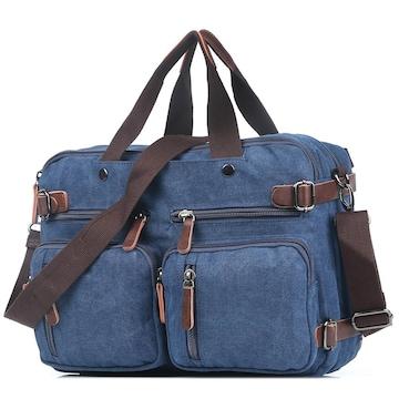 ボストンバッグ 旅行鞄 キャンバス メンズ 出張 ネイビー