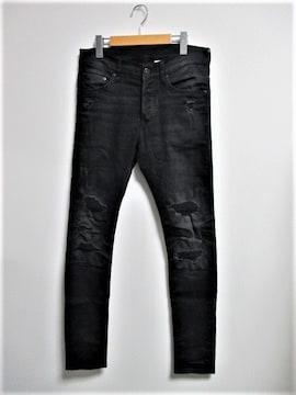 ☆H&M エイチアンドエム ダメージ加工 スキニーパンツ パンツ/メンズ/30☆ブラック