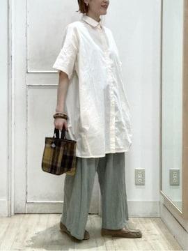 新品!!スタジオクリップ 半袖シャツチュニック 白