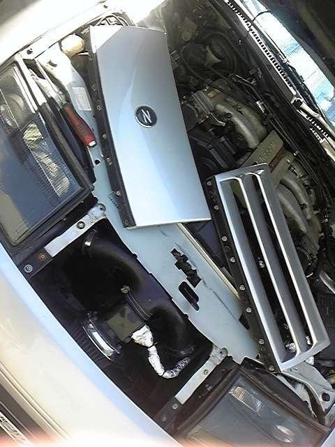 Z32フロントグリルガーニッシュ(シルバー) < 自動車/バイク