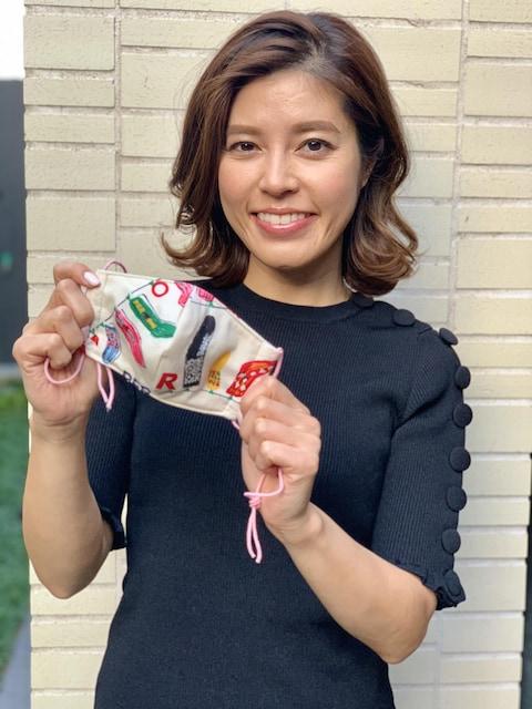 ハンドメイドマスクチャリティー 神田愛花さん