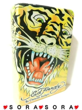 【エドハーディー】〈タイガー Tiger〉特大卓上オイルライター