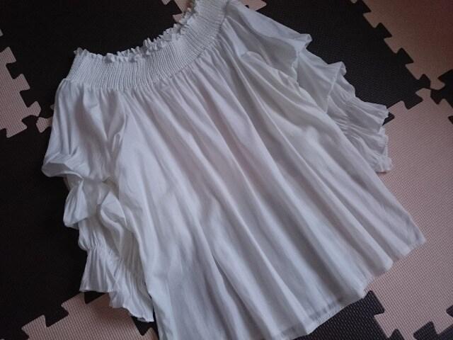 fifth フィフス☆フリル&ギャザープルオーバー★ブラウス☆ホワイト★  < 女性ファッションの