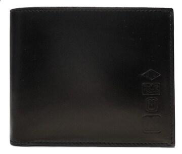 新品同様正規ダンヒル二つ折り財布札入れブラックレザー黒