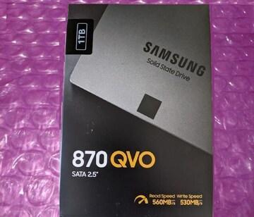 未開封新品SSD1T サムスン870 QVO MZ-77Q1T0B/IT
