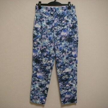 ジーナシス M 染め柄風 パンツ ブルー系